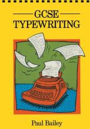 GCSE Typewriting