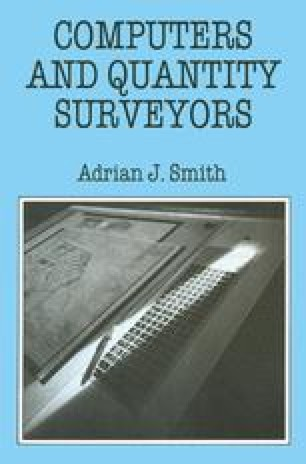 Computers and Quantity Surveyors