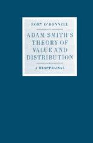 Adam Smith's Theory of Value and Distribution