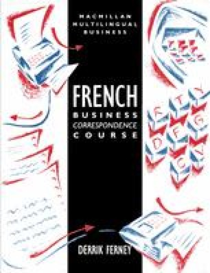 French Business Correspondence Course