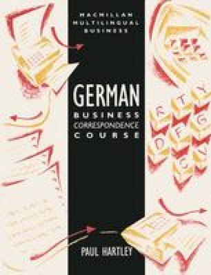 German Business Correspondence Course