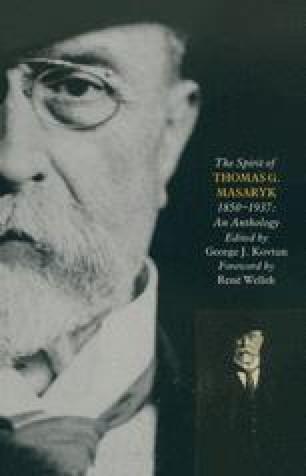The Spirit of Thomas G. Masaryk (1850–1937)