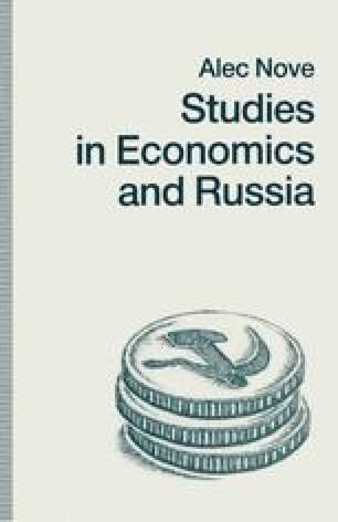 Studies in Economics and Russia