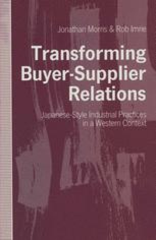 Transforming Buyer-Supplier Relations
