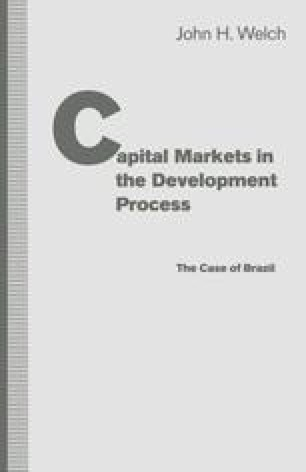 Capital Markets in the Development Process