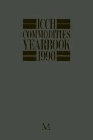 ICCH Commodities Yearbook 1990