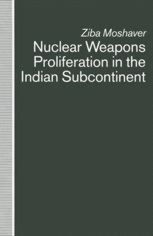 Nuclear Weapons Proliferation in the Indian Subcontinent