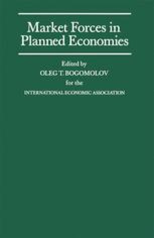 Market Forces in Planned Economies
