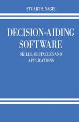 Decision-Aiding Software