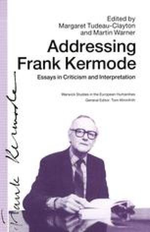 Addressing Frank Kermode
