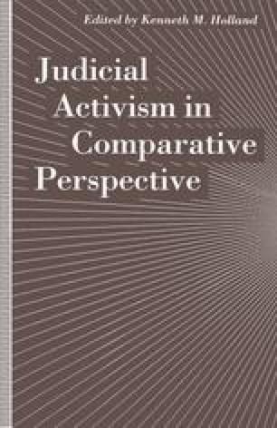 Judicial Activism in Comparative Perspective