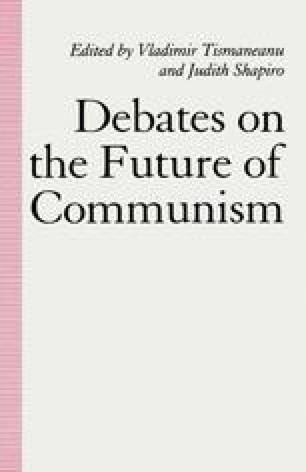 Debates on the Future of Communism