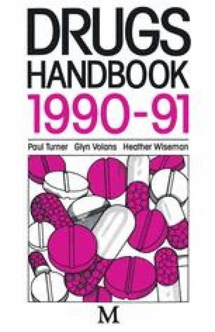 Drugs Handbook 1990–1991