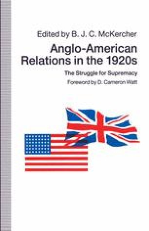 Anglo-American Relations in the 1920s