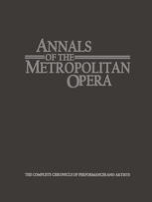 Annals of the Metropolitan Opera