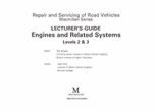 Lecturer's Guide Engines and Related Systems Levels 2 & 3