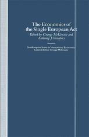 The Economics of the Single European Act