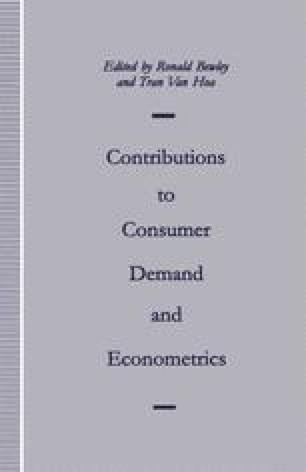 Contributions to Consumer Demand and Econometrics