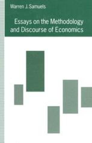 Essays on the Methodology and Discourse of Economics