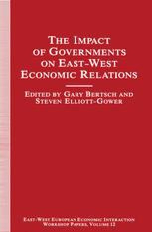 The Impact of Governments on East-West Economic Relations