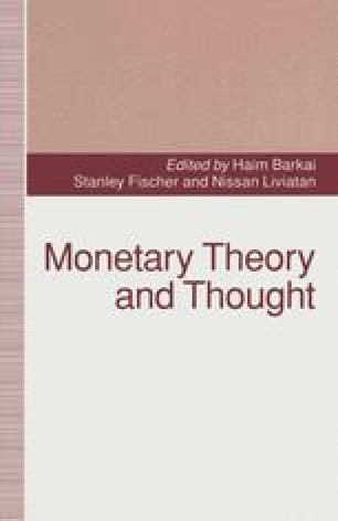 Monetary Theory and Thought