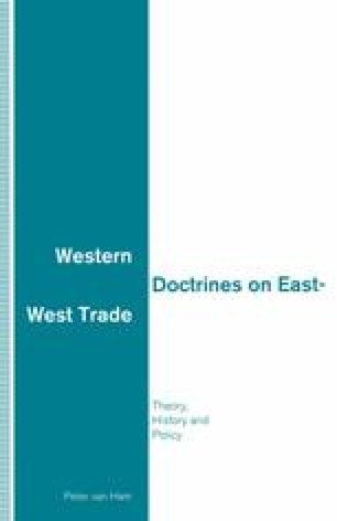 Western Doctrines on East-West Trade