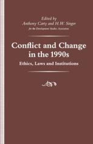Conflict and Change in the 1990s