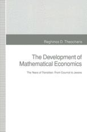 The Development of Mathematical Economics