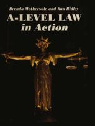 A-Level Law in Action