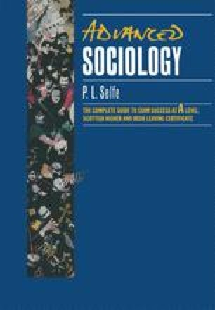 Advanced Sociology