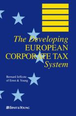 The Developing EUROPEAN CORPORATE TAX System
