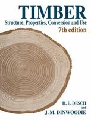 Timber Structure, Properties, Conversion and Use
