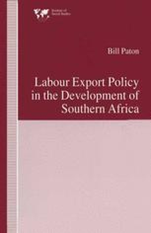 Labour Export Policy in the Development of Southern Africa