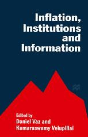 Inflation, Institutions and Information