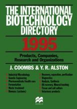 The International Biotechnology Directory 1995