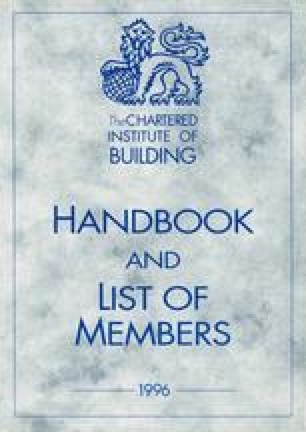 The Chartered Institute of Building Handbook of and List of Members