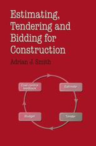Estimating, Tendering and Bidding for Construction