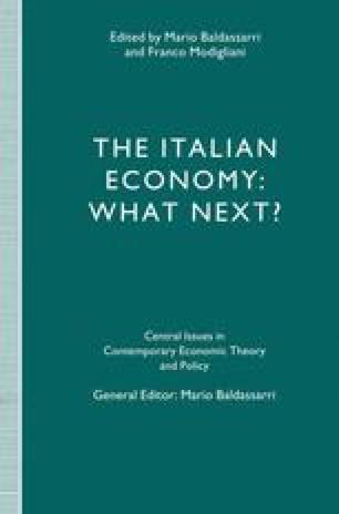 The Italian Economy: What Next?