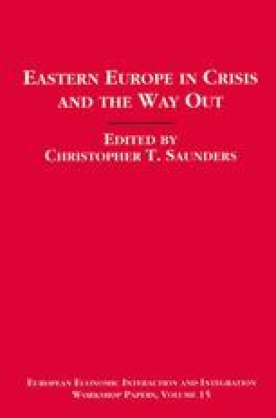 Eastern Europe in Crisis and the Way Out