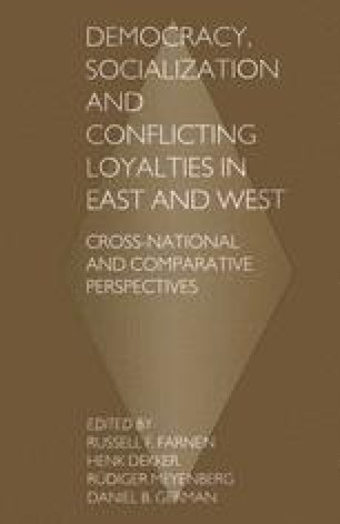 Democracy, Socialization and Conflicting Loyalties in East and West