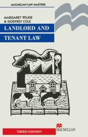 Landlord and Tenant Law