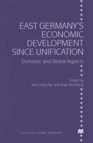 East Germany's Economic Development since Unification