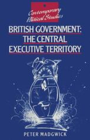 British Government: The Central Executive Territory