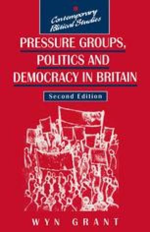 Pressure Groups, Politics and Democracy in Britain