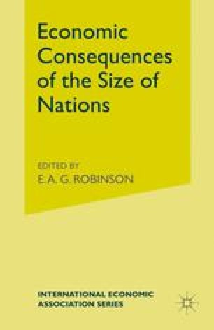 Economic Consequences of the Size of Nations