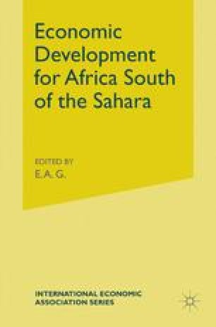 Economic Development for Africa South of the Sahara