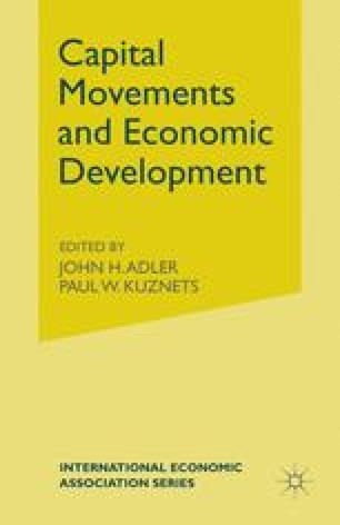 Capital Movements and Economic Development