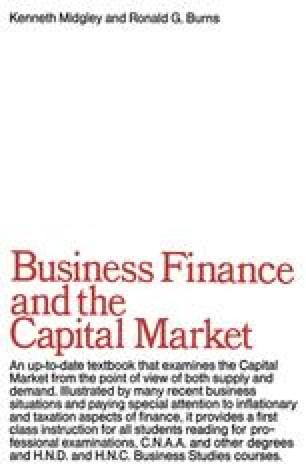 Business Finance & the Capital Market