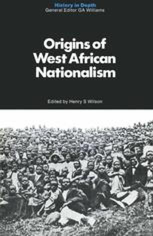 Origins of West African Nationalism