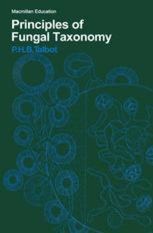 Principles of Fungal Taxonomy